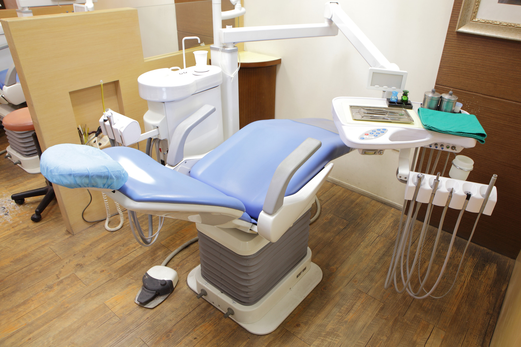 Dental office, equipment, include chair, water, drill etc.